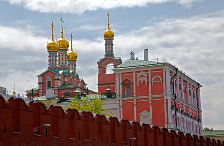 cupolas: Moscow Kremlin wall and Cathedrals cupolas