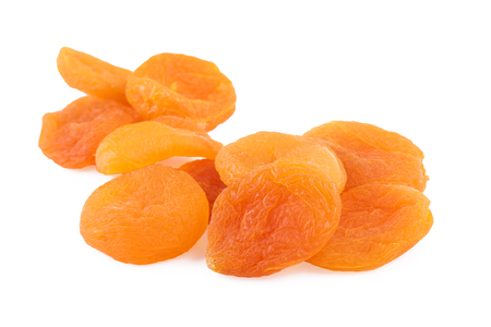 Dried Apricots Closeup White