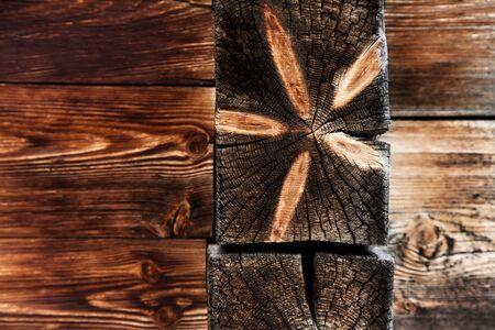 sunburned: Wooden Background Tree Rings Pattern Stock Photo