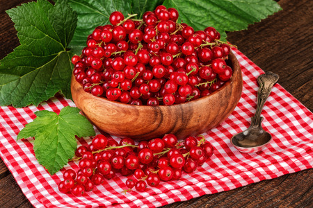 redcurrant: Redcurrant on a rustic background Stock Photo