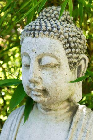 cabeza de buda: Buda de la meditaci�n cabeza concepto de balance de spa