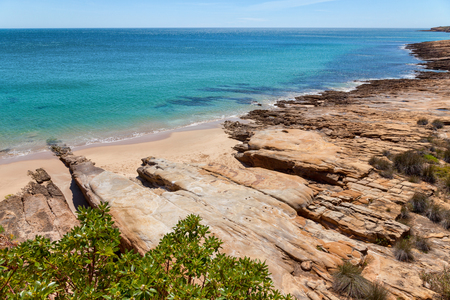 algarve: Luz beach, Algarve, Portugal Stock Photo