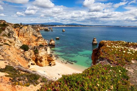 praia: Camilo beach Praia do Camilo near Lagos, Algarve, Portugal
