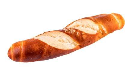 lye: bun lye roll typical german bread isolated on white