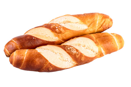 lye: buns rolls lye rolls typical german bread isolated on white