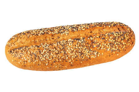 organic wholegrain bun topped with sesame and poppy seeds