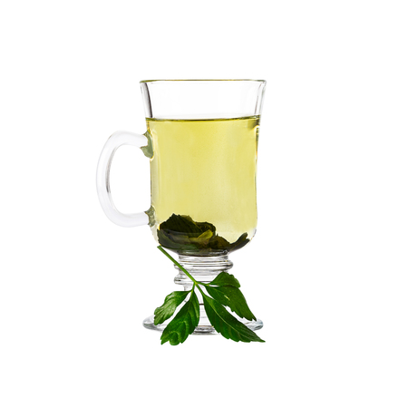Jiaogulan Miracle grass Chinese herb tea. Image included clipping path Standard-Bild
