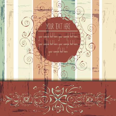 Floral ornamented vintage card with space for text-Vector illustration Vector