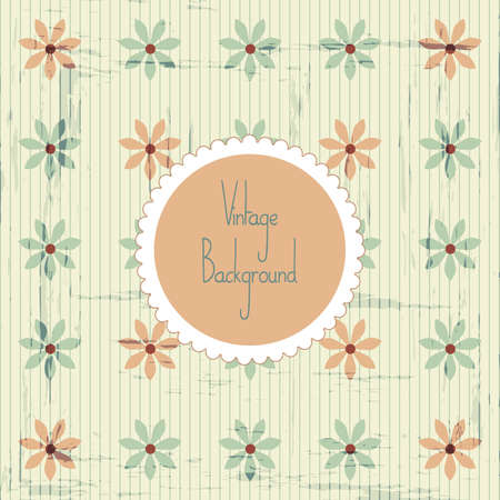 muted: Seamless vintage pattern with retro label illustration