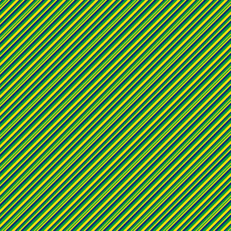 Stripe pattern of blue, green and yellow lines in a diagonal. A pattern with colors of the Brazilian flag that can be used as a background.