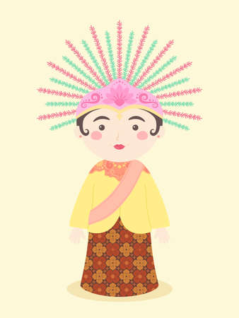 Ondel-ondel Jakarta Traditional Puppet Mascot Symbol from Indonesia vector illustration cartoon character design