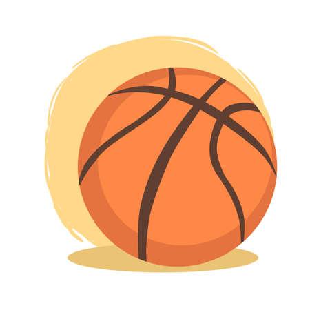 Vector de dibujos animados de deporte de pelota de baloncesto