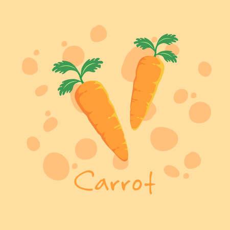 Carrot Vegetable Cartoon Vector 向量圖像