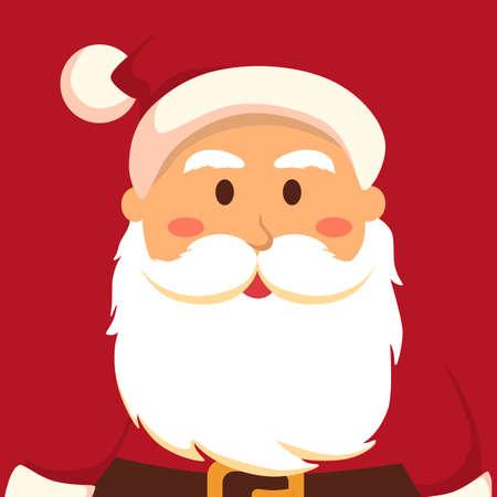 Full Face Santa Red Christmas greeting card