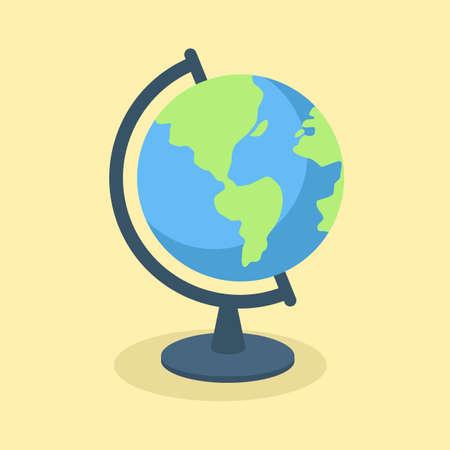 Globe School Supplies Travel Map Vector 向量圖像