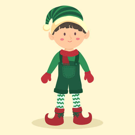 Christmas Elf Boy with Jumpsuit