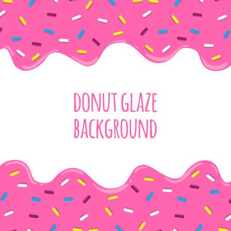달콤한 도넛 유약 벡터 배경입니다. 녹는 도넛 유약을 격리. 일러스트
