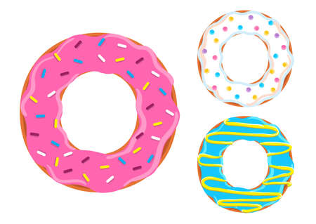 Sweet donuts vector. 向量圖像