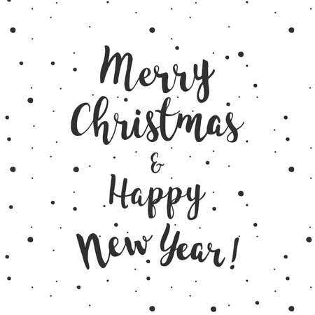 Merry Christmas and Happy New year lettering quot.