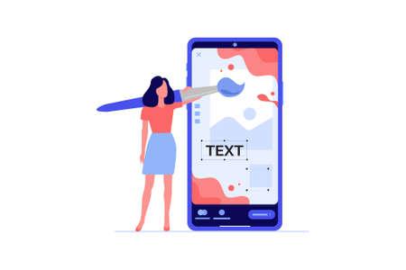 Social media designer vector illustration. 向量圖像