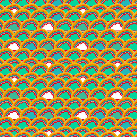 Background with cloud Vector
