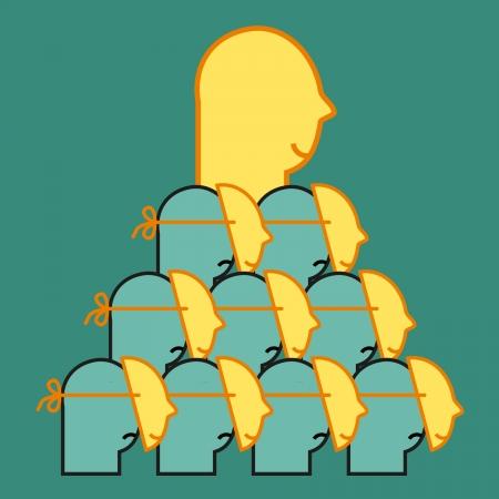 faced: Human pyramid