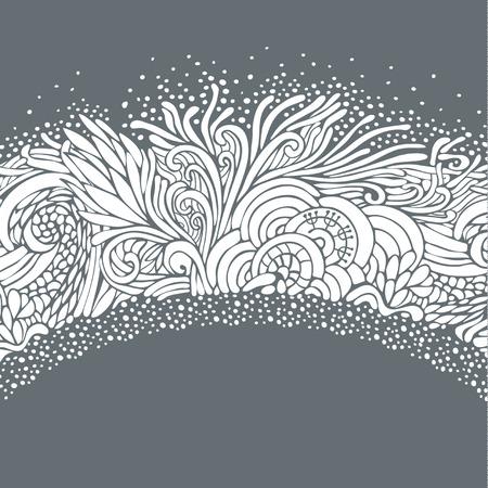 psychoanalysis: Round frame winter ornate