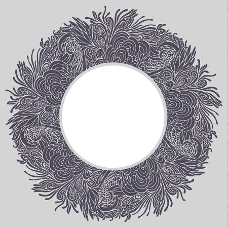 psychoanalysis: Round floral frame Illustration