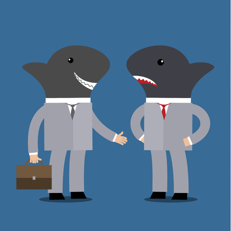 liar: Concept of business shark. Flat vector illustration