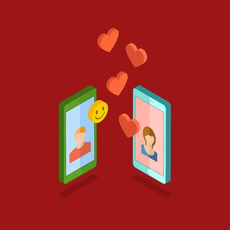 long: Valentines day illustration.