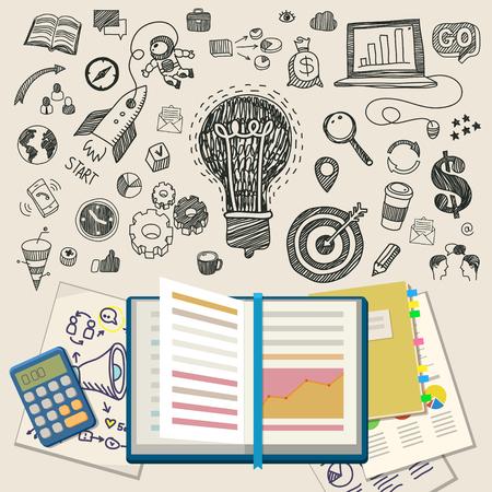 Concept d'éducation en ligne. E-learning science avec le symbole du livre comme ordinateur. Design plat, illustration vectorielle