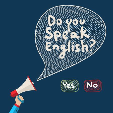 Koncepcji uczenia się języka angielskiego. Płaska konstrukcja, ilustracji wektorowych Ilustracje wektorowe
