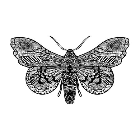 Hand Magie Schmetterling Für Erwachsene Anti-Stress-Färbung Seite ...