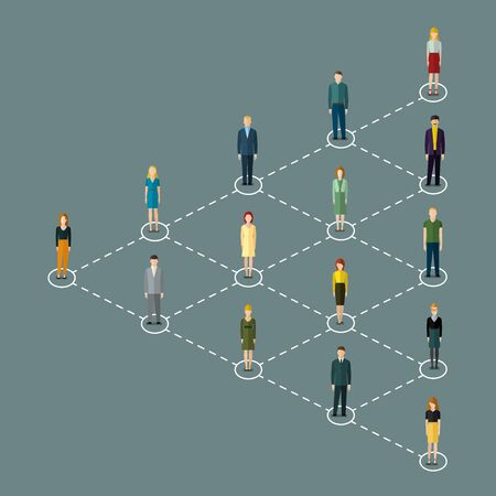 Konzept der Social-Media-Marketing. Vektor-Illustration, flaches Design. Vektorgrafik