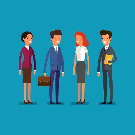 Business concept. Cartoon businessman and woman