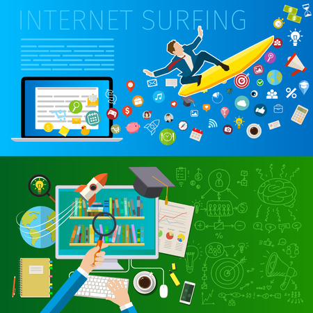 Fast speed mobile internet surfing. Illustration