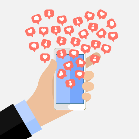 popularity: Concept of the popularity in social networking. Illustration