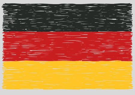 flag: Hand drawn german flag Illustration