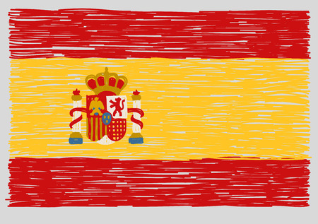 Hand drawn spanish flag