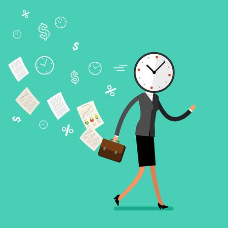 Concept de gestion efficace du temps Vecteurs