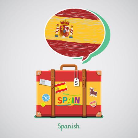 Concetto di viaggio o di studio spagnolo. Archivio Fotografico - 75567116