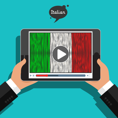 Concept of learning languages. Study Italian.