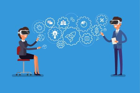 Concept of virtual reality.