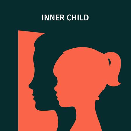 Concept van innerlijke kind.