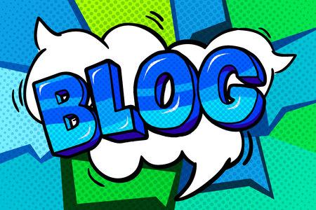 Bąbelkowy blog. Ilustracje wektorowe