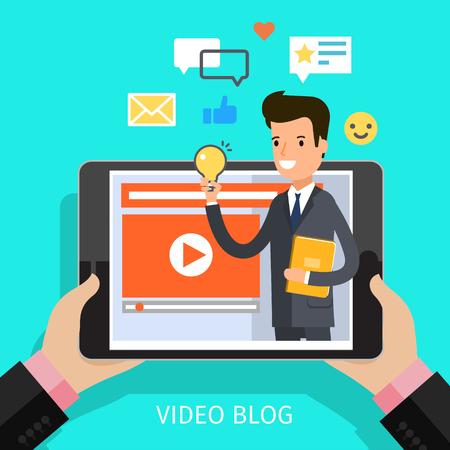 Concept of video blogging.