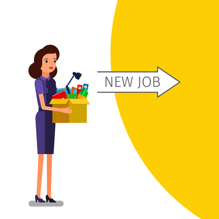 better: Concept of Welcome to the new job. Illustration