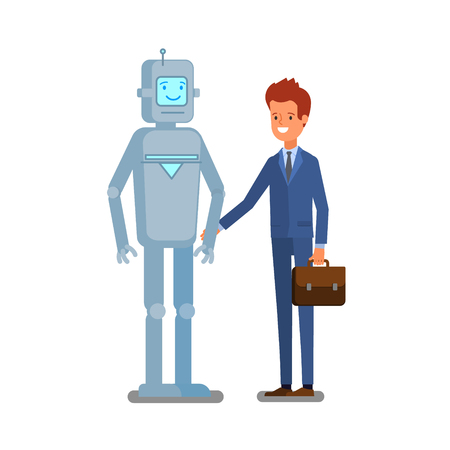 Concept of artificial Intelligence and business automation.