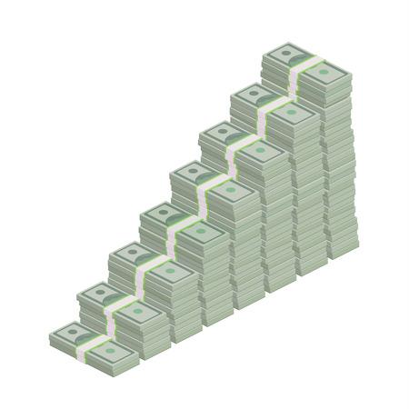 100ドル札の積み重ね