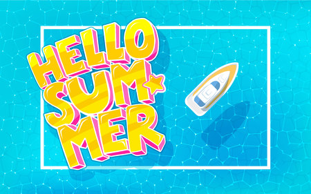 Hello Summer background Foto de archivo - 94608757